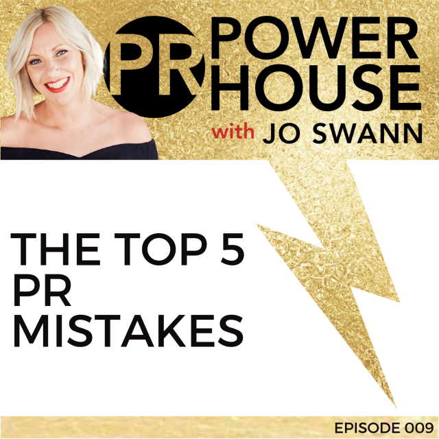 009 The Top 5 PR Mistakes